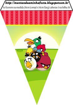 Kit para impressão Angry Birds, Angry Birds Montando a minha festa, Scrap festa Angry Birds, convite Angry Birds, Festa Angry Birds