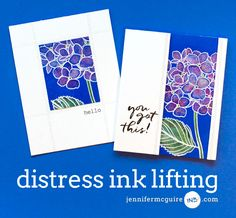 Distress Ink Lifting by Jennifer McGuire Ink.  This is a super easy technique that gives a dramatic result.