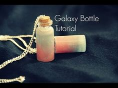 Galaxy Bottle Tutorial - YouTube (Diy Necklace Charms)