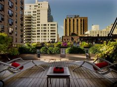 nyc gramercy park roof deck via @Contemporist .com
