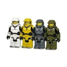 HALO 3 Kubricks 4 MASTER CHIEF LEGO Purple Variant RARE Chase Exclusive Figure xbox 360 Spartan 117 kubrick set - includes 8 Weapons - 2 for each Master Chief (Toy) http://www.amazon.com/dp/B001M1C5TU/?tag=dismp4pla-20
