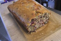 Low Carb Cranberry Bread, made from Almond Flour.