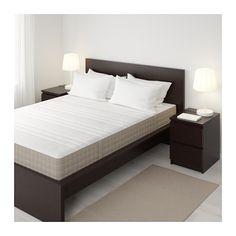 IKEA - HAUGESUND, Spring mattress, medium firm/dark beige, Queen, , The individually wrapped pocket springs in HAUGESUND mattress…