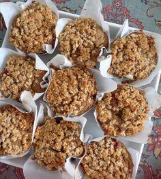 Low histamine Gluten Free Blueberry breakfast muffins! Yay streusel!