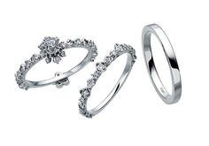 エンゲージ+マリッジリングのセット(プラチナ、ダイヤモンド) abheri(アベリ) http://www.abheri.com/