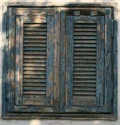 Wide Open Rustic Wooden Window Wit