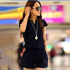 Women's Summer Cool Round Color Fashion Jumpsuits - CAD $ 33.20