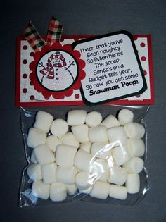 Snowman Poop by kaitysmom - Cards and Paper Crafts at Splitcoaststampers Homemade Christmas Gifts, Christmas Goodies, Christmas Candy, Christmas Treats, Christmas Presents, Christmas Holidays, Christmas Decorations, Christmas Wrapping, Funny Christmas