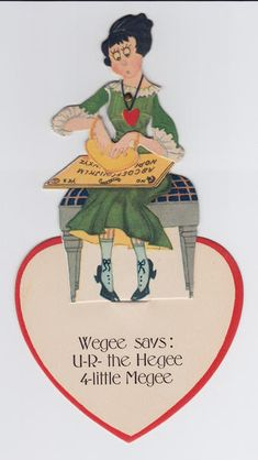 Handout/From the collection of the Talking Board Historical Society 1920s valentine.