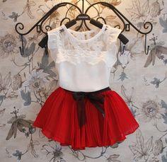 Conjuntos de vestuário para menina novos 2015, Conjunto Vestido + Short Camiseta, 2 peças, Vestuário infantil tricotado, roupas de meninas moda de roupas infantis para verão em Conjuntos de roupas de Mãe & Kids no AliExpress.com | Alibaba Group