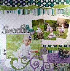 cute layout by Elaine... love the color combo