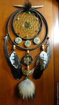 """Купить Ловец снов """"Зеленый Дракон"""" - ловец снов, оберег, оригинальный подарок, амазонит, нефрит"""
