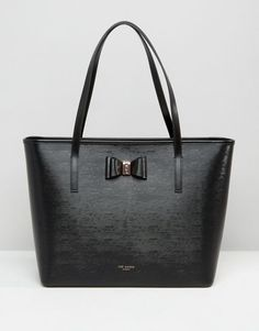 Ted Baker Crosshatch Tote Bag With Bow Detail