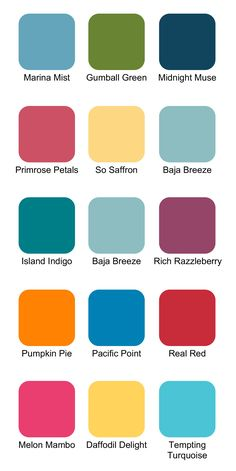Stampin Up! Color Combinations for Summer #StampinUp