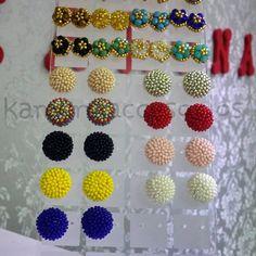 Beaded Earrings Patterns, Diy Earrings, Hand Embroidery Art, Beaded Embroidery, Crochet Skull Patterns, Jewelry Crafts, Handmade Jewelry, Bead Jewellery, Fabric Jewelry