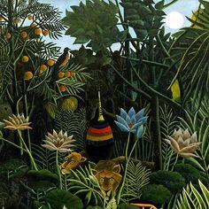 The Dream ceramic decal, fluteplayer ceramic transfer, Rousseau decal, ceramic transfer, 1400-1562 ºF, 750-850ºC, decals for pendants, flute door StainedGlassElements op Etsy