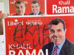 A culture of division: Liberal candidate says divisive politics spurred vandals to deface up to 35 of his signs throughout his riding. And if you think this has nothing to do with the Reform Alliance party of Conservatives racist remarks and future laws around the Muslim communities in Canada, then think again. Harper's afraid of Muslims and he wants you to be afraid of them too. Fear overrides politics with Harper's crew.