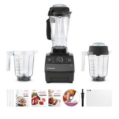Vitamix 5200 Deluxe Package -- absolutely the best kitchen appliance, chops, blends, dices and even cooks.