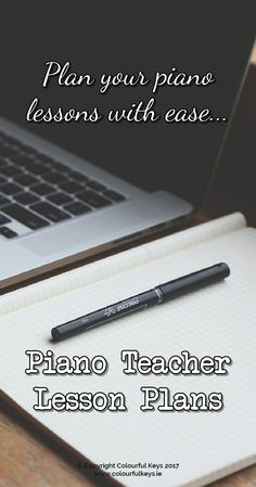 Level up your piano teaching with these lesson plan templates! colourfulkeys.ie/...