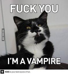 Fuck you, I'm a vampire