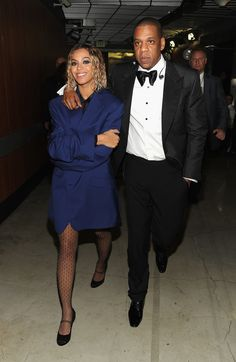 Beyoncé sported Jay Z's jacket, and it's the cutest.