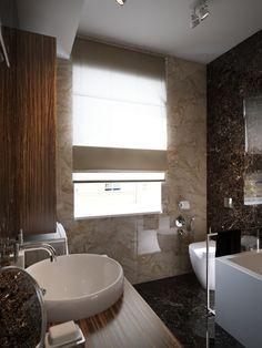 Gorgeous small bathroom design with modern theme.