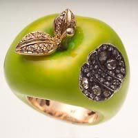 I will buy this apple ring by Sevan Bicakci.