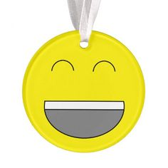 "Personalized ""Emoji"" Christmas Ornament. Add name on back!"