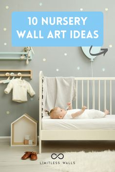 Here are 10 simple nursery wall art ideas that are guaranteed to get the ideas flowing and ensure your baby's first bedroom is special. Nursery Wall Decor. Nursery Wall Murals. Children's Wall Murals. | Limitless Walls - Premium Wall Murals Nursery Wall Murals, Nursery Artwork, Nursery Prints, Nursery Decor, Nursery Design, Nursery Ideas, Wall Decor, New Born Must Haves, New Baby Checklist