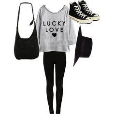 A fashion look from March 2015 featuring even&odd leggings, Converse sneakers and Disney shoulder bags. Browse and shop related looks.