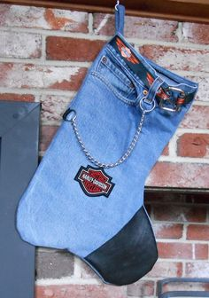 Harley Davidson Christmas Stocking by DJAESDESIGNS on Etsy