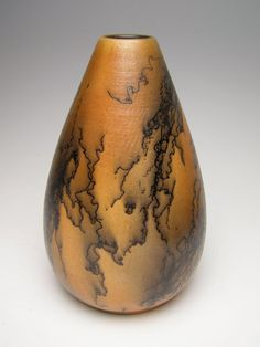 Raku horsehair pottery vase Bz 6 by Letsgetmuddy on Etsy, $43.00