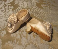 Spectacular Satin Slippers for French Fashion - Giroux?