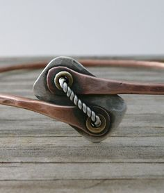 Not Just a Bangle Copper Sterling Silver Brass by LjBjewelry