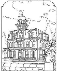 Free Victorian House Coloring Pages For Adults Printable