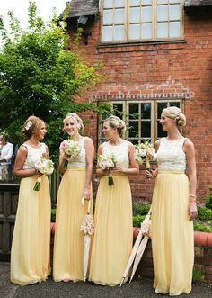 Anneli Marinovich; Editor's Picks: Brilliant Yellow Wedding Ideas Full of Cheer - bridesmaid dresses