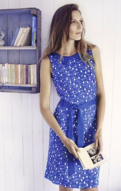 Blue Print Dress from People Tree