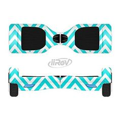 The Trendy Blue Sharp Chevron Pattern Full-Body Wrap Skin Kit for the iiRov HoverBoards and other Scooter (HOVER BOARD NOT INCLUDED)