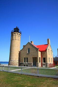 "Lighthouse - Mackinac Point, Michigan. ""The Fine Art Photography of Frank Romeo."""