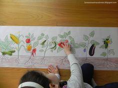 Gradina de legume Fruit Crafts, Alice Waters, Teaching Kids, Plastic Cutting Board, School Gardens, Science, Education, Vegetables, Spring