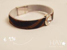 Armband met steen | Diamand/ Dierenprint