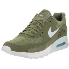 Nike Women's Air Max 90 Ultra 2.0 Running Shoe (1.689.645 IDR) ❤ liked on Polyvore featuring shoes, athletic shoes, green, palm tree shoes, lace up shoes, athletic running shoes, green shoes and green athletic shoes