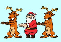 Holiday GIF Guide: 20 Ways to Get Into the Spirit via Brit + Co...Oh, you know, just Santa doing the Macarena. Typical.
