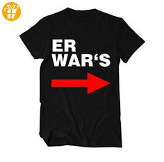 Er war's Lustiger Spruch Fun T-Shirt Herren XX-Large Schwarz (*Partner-Link)