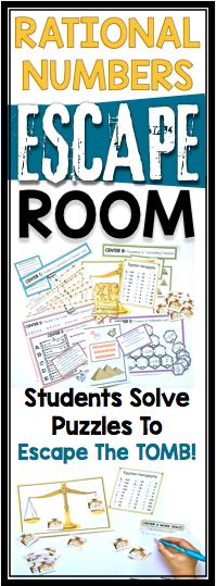 This escape room activity is an exciting and engaging way to review operations with rational numbers with students. While excavating an ancient Egyptian tomb, you and your friends get trapped inside! Upon inspection of the tomb, you notice various number related materials laying around and a dial on the door. Can you solve the puzzles to figure out the dial combination and escape the tomb?
