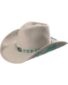02f43827d41 Bullhide Grey Natural Beauty Wool Cowgirl Hat