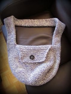 Purple side bag :) Side Bags, Diys, Tote Bag, My Love, Purple, My Style, Crochet, Shopping, Bricolage