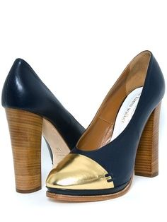 Capped Heels love the combo of metal with wood
