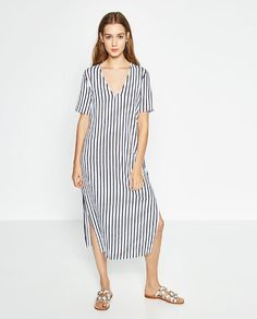 Image 1 of LONG STRIPED DRESS from Zara