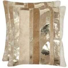"""Michael Amini Throw Pillow Grey/Silver 20"""" x 20"""" by Nourison - Overstock Shopping - Great Deals on Nourison Throw Pillows"""